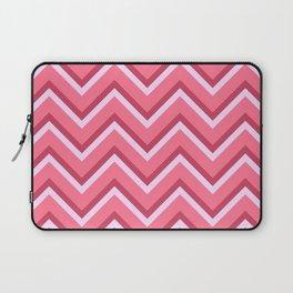Pink Zig Zag Pattern Laptop Sleeve