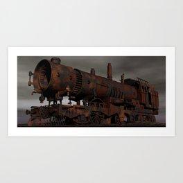 Train Cemetery  Art Print