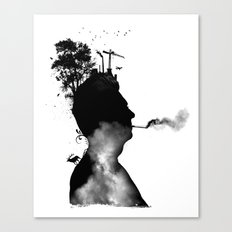 URBAN BLACK MAN Canvas Print