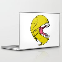 pac man Laptop & iPad Skins featuring Ancient Pac-man by Sauce Designs