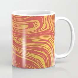 Red marble pattern with golden tint Coffee Mug