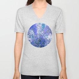 Cornflower Blue Abstract Painting Unisex V-Neck