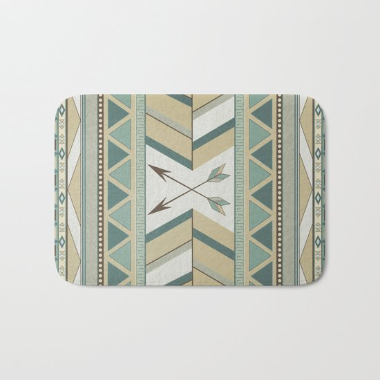 Aztec Pattern Arrows Bath Mat