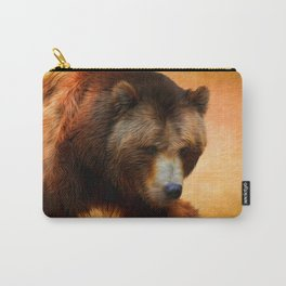 Grizzly Bear Painted Carry-All Pouch