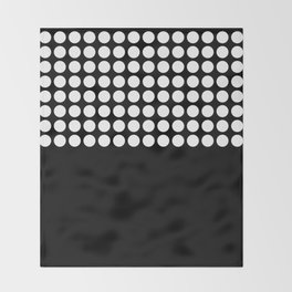 Black and white polka dot .2 Throw Blanket