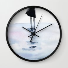 all around the sea Wall Clock