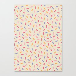 Party Mix Sprinkle Confetti Pattern Canvas Print