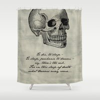hamlet Shower Curtains featuring Hamlet - Shakespeare by pithyPENNY