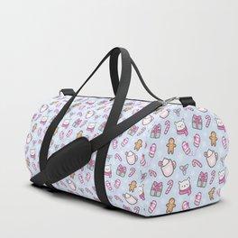 Cute Christmas // Blue Duffle Bag