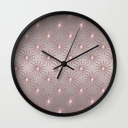 Elegant Star Pattern Rose Quartz Wall Clock