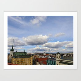 Brno from above Art Print