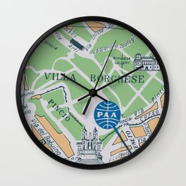 Roma Vintage Map Design Wall Clock