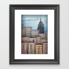 NYC Looking Uptown Framed Art Print