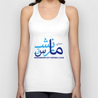manchester Tank Tops featuring Manchester City by Sport_Designs