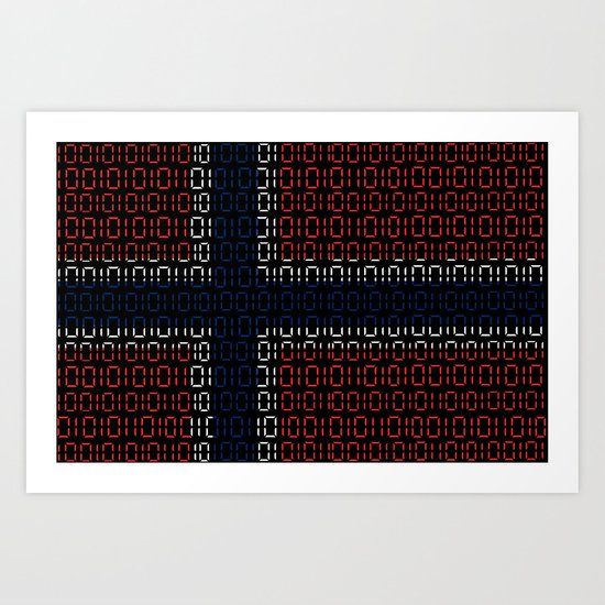 digital Flag (norway) Art Print
