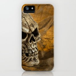Skull And Sackcloth iPhone Case