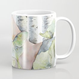 Sleeping in the Forest, Luna Moth Girl with Dark Hair Coffee Mug