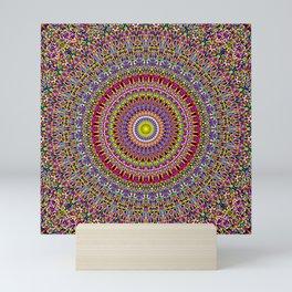 Magic Ornamental Garden Mandala Mini Art Print