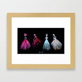 The Gathering Fashion Illustration Framed Art Print