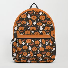 Pumpkin Party - Black Backpack