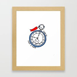 Time to Take it Easy Framed Art Print