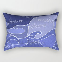 Waves V blue colors V duffle bags Rectangular Pillow