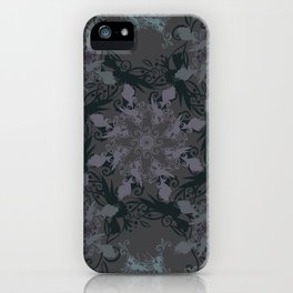 Damask, grey iPhone Case