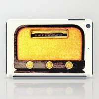 radio iPad Cases featuring Old Radio by Mr and Mrs Quirynen