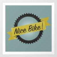 Nike bike Art Print