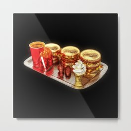 The Golden Age Of Fast Food Metal Print