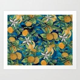 Orange Overload Art Print