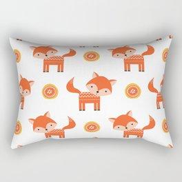 Orange Fox Rectangular Pillow