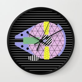 Millennium Falcon Geometric Style - Pastel, abstract design Wall Clock