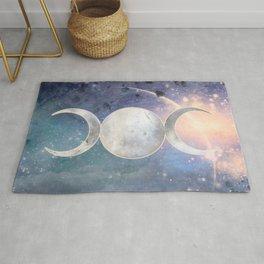 Heavenly Universe Triple Moon Goddess Rug