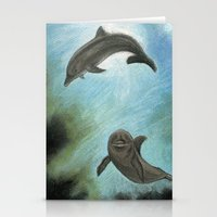dolphins Stationery Cards featuring Dolphins by Savousepate