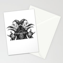 InsanitynArt's Plague Doctors of Death Digitally Doubled Illustration. Stationery Cards