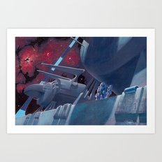 The Ringworld Engineers: Walking the Edge of Existence Art Print