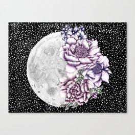 Moon Abloom II Canvas Print