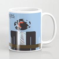 movie poster Mugs featuring Scanners - Altenative Movie Poster by maclac