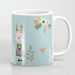 A Pastel Tortoise and Hare Story Coffee Mug