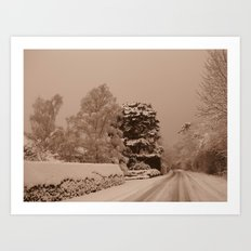Snow in Windsor Art Print