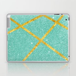 Shiny Water & Gold Laptop & iPad Skin