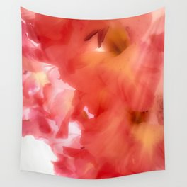 Soft Red Gladiola Wall Tapestry