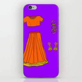 Her sari iPhone Skin