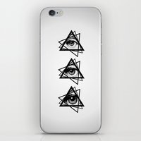 new order iPhone & iPod Skins featuring Eye New World Order by glwadys