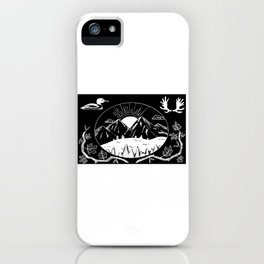 Canadian Mountain Range Invert iPhone Case