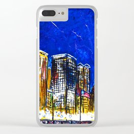 Chicago Nights Downtown Clear iPhone Case