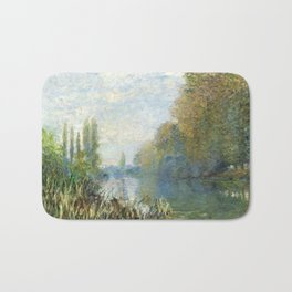 The Banks of The Seine in Autumn by Claude Monet Bath Mat