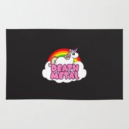 Death Metal Unicorn Rainbow Rug