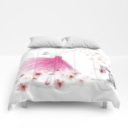 DANCE OF THE CHERRY BLOSSOM Comforters